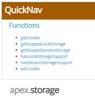 oracle apex JavaScript api apex.storage